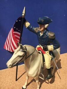 1950's Hartland GEORGE WASHINGTON HORSE & RIDER w/Saddle, Hat & Sword