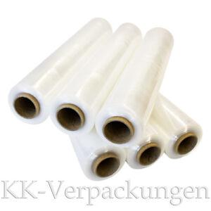0,02€//m 2 Rollen Stretchfolie PE Folie transparent 17 mµ L 270 m B 500 mm NEU