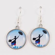 MARY POPPINS EARRINGS disney practically perfect vintage retro scene london