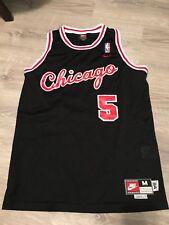 Vintage 90's Mens Medium Nike Jalen Rose Chicago Bulls NBA Basketball Jersey