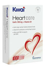 2  X KWAI  HEARTCARE GARLIC 300MG + VITAMIN B1 TABLETS  100s  1 A DAY  FREE P+P