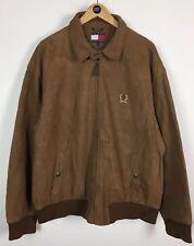 Mens Tommy Hilfiger Leather Jacket / Large / Harrington / Bomber / Original