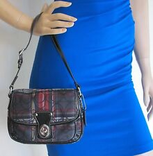 COACH F15477 Red Tartain Plaid Penny Small Purse - NWOT