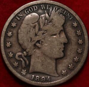 1894-S San Francisco Mint Silver Barber Half Dollar