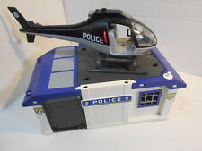 Playmobil 5917 Take Along Police Station & 5975 Helicopter Playsets Incomplete