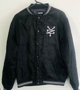 Zoo York Excelsior Button Up Winter Jacket Large Black Nylon With Small Defects