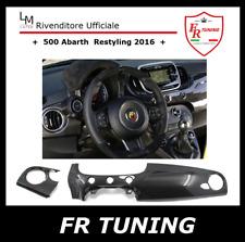 FIAT 500 ABARTH RESTYLING COVER PLANCIA CRUSCOTTO IN VERA FIBRA DI CARBONIO 2016