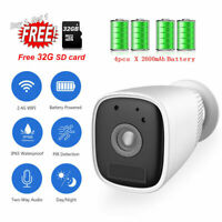 Wireless Rechargeable WiFi IP Home Security Camera 1080p Outdoor Battery Powered