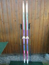 """Ready to Use Cross Country 79"""" Long FISCHER 205 cm Skis +  Poles"""