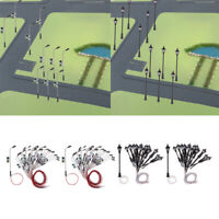 80pc LED Street Light Lamppost HO Scale for Model Park Train Scenery Decorations