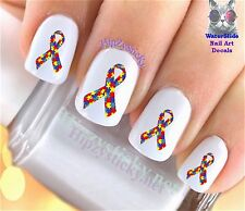 "RTG Set#653 IMAGE ""Autism Puzzle Ribbon 1 Charity"" WaterSlide Decal Nail Transf"