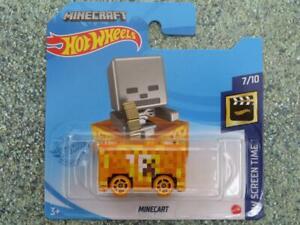 """Hot Wheels 2021 #142/250 MINECART orange """"Minecraft"""" @G"""