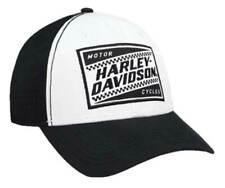 Harley-Davidson Men's Ignition Embroidered Baseball Cap, White & Black BCC33488