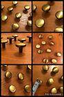 8 Knobs Antique Brass Round Gold Pull English Cabinet Drawer Mid Century Vintage