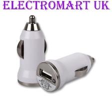 MINI Compact USB AUTO 12V VOLT 24V SIGARO Spina Caricabatterie Led Luce 1A 1000mA AMP