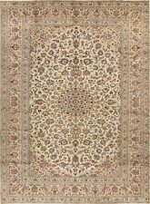 8x11 Vintage Traditional Floral IVORY Ardakan Area Rug Hand-Knotted Living Room