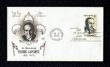 Canada 558 Pierre LaPorte 1971 Rose Craft First Day Cover Fdc can558-1