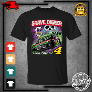 Men's 2021 Kevin Harvick Racing Team Collection GraveDigger Black T-Shirt