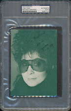 Yoko Ono Signed Photograph PSA/DNA Certified Authentic Auto Autograph *1216