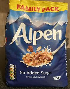 Alpen Muesli No Sugar 1.1kg Family Pack 100% Natural Ingredients High In Fibre