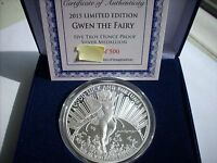 Gwen the Fairy 5 OZ .999 Silver Proof Tom Grindberg Marvel Comics W/ Box & COA
