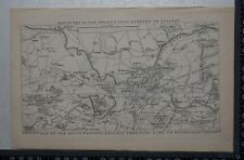 1845 Map of the River Thames from Hampton to Staines & S.W. Railway to Weybridge