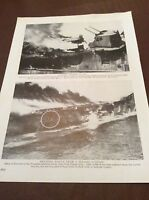 m12d ephemera 1940s ww2 picture u s ship franklin hit