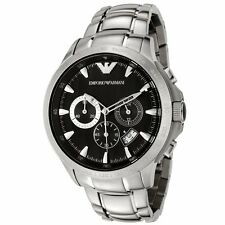Emporio Armani Black/Silver Quartz Analog Men's Watch AR0636