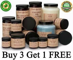 Organic Butter 100% Pure Raw Natural Cold Pressed For Skin Face Body Hair