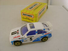 1993 MATCHBOX SUPERFAST #52 WHITE MOBIL 1 ESCORT COSWORTH RALLY CAR NEW IN BOX