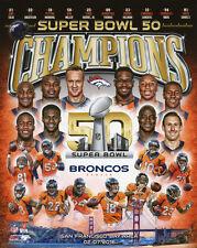 2015 DENVER BRONCOS CHAMPIONS 8x10 Photo Super Bowl 50, Manning, Miller Poster
