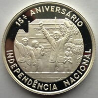 Saint Thomas Prince 1990 Independence 1000 Dobras Silver Coin,Proof