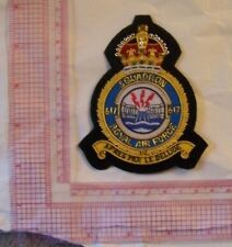 Royal Air Force 617 Squadron UK Patch RAF RFC Crest Fighter Shield Heraldry COA