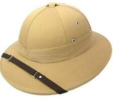 Safari moelle kaki deluxe explorateur chasseur casque chapeau déguisement adulte neuf P6165