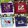 Personalized CHRISTMAS HOLIDAY PICTURE Photo FRAME Decor Wood