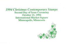 #2872-74 2nd Day Program Christmas 1994 Stamps