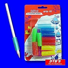 20 X BEROL PENCIL GRIPS GRIP IT HANDWRITING SCHOOL WRITING AID PEN CROCHET HOOK