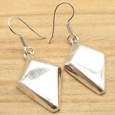 """Finished Plain Fashion Earrings 1 3/4"""" New Price Only $0.99 ! 925 Silver Overlay"""