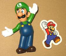 Mini Luigi Figur / Figure (9cm) + Mario Aufkleber / Sticker