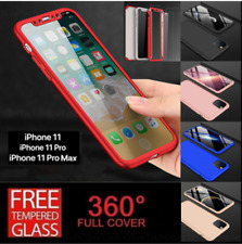 For iPhone 11 XR 11 Pro Case Shockproof 360° Full Body Hard Cover Tempered Glass