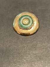 14K GOLD BROOCHE/PIN JADE 6.1 GRAMS