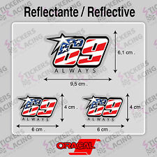 NICKY HAYDEN 69 ALWAYS PEGATINA REFLECTANTE MOTO CASCO MOTO GP STICKERS ADESIVI
