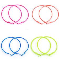10pcs 56mm Lots Fashion Candy Color Circle Basketball Wives Loop Hoop Earrings