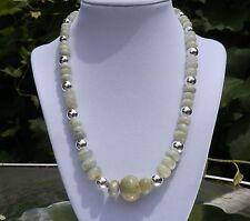 """19"""" Handmade Aquamarine Rondelle Necklace - Large 20mm focal stone"""