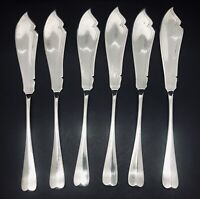 Set of 6 Victorian Antique E.P.N.S Fish Serving Cutlery, Barker Bros Birmingham.