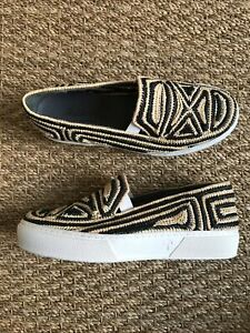 Robert Clergerie Raffia Slip-on Shoes UK4 37