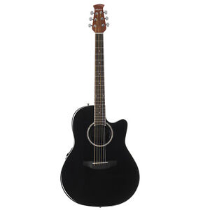 Ovation Applause Standard Mid Depth Acoustic / Electric Guitar Black