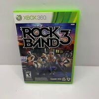 Rock Band 3 (Microsoft Xbox 360, 2010) CIB COMPLETE  (2B)