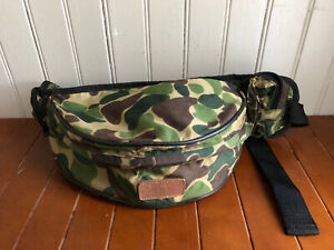 Vintage Adjustable Fred Bear Camo 3 Pocket Fanny Pack Pouch Camo Bow Hunting