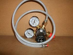 Argon/Co2 Mig Welder 2 Gauge Regulator and 1 metre mini mig adaptor hose
